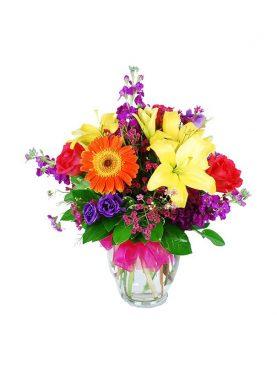 Beautiful Basket of Gerberas & Roses