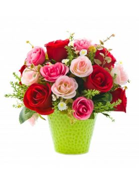 Basket of Roses with Dairymilk Silk